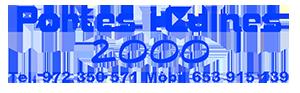 Portes i Cuines 2000. Carpinteria Blanes, Girona Logo